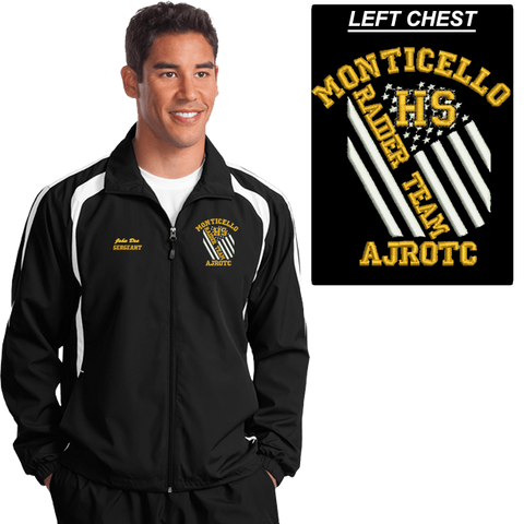 JROTC Embroidered RAIDER TEAM Wind Jacket (DD-WJRAIDFL), Embroidery, dovedesigns.com, Dove Designst-shirts, shirts, hoodies, tee shirts, t-shirt, shirts