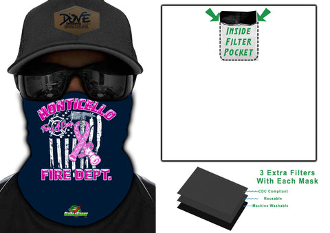 Firefighters For A Cure GaiterSaver Filtered Neck Gaiter (GS-AXEFLBC)