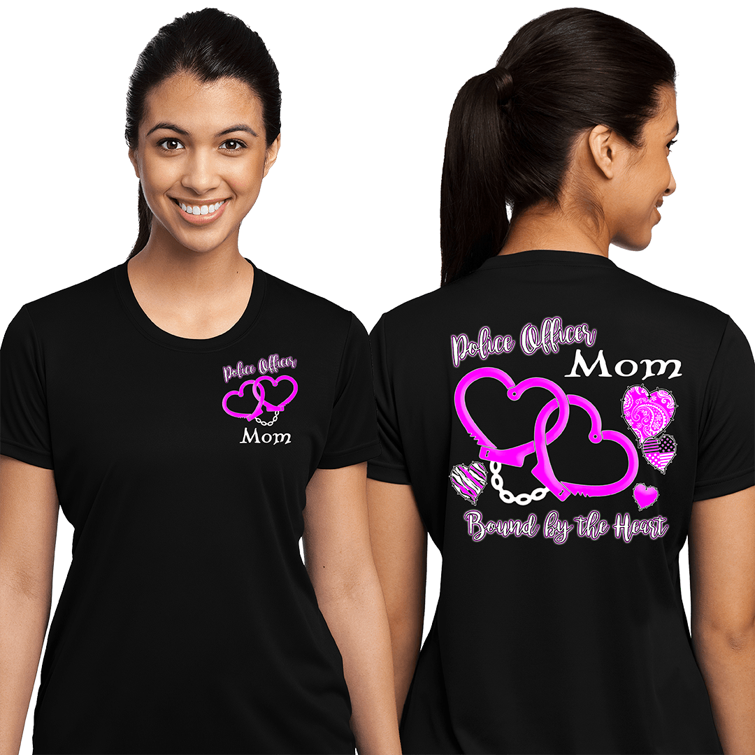 Police Officer Mom Bound By the Heart, Special Occasions, dovedesigns.com, Dove Designst-shirts, shirts, hoodies, tee shirts, t-shirt, shirts