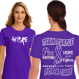 Personalized Free (DD-TEAMPURPLE), Awareness Shirts, dovedesigns.com, Dove Designst-shirts, shirts, hoodies, tee shirts, t-shirt, shirts