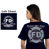 Firefighter Wife's Prayer Shirt (SST-WP), Special Occasions, dovedesigns.com, Dove Designst-shirts, shirts, hoodies, tee shirts, t-shirt, shirts