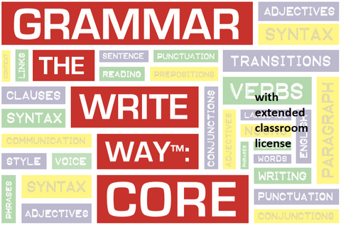 Grammar the Write Way: Core - Extended License for Classroom Use