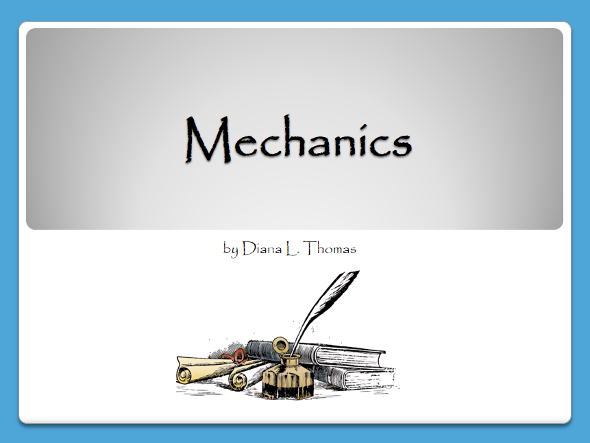 Writing Traits: Mechanics