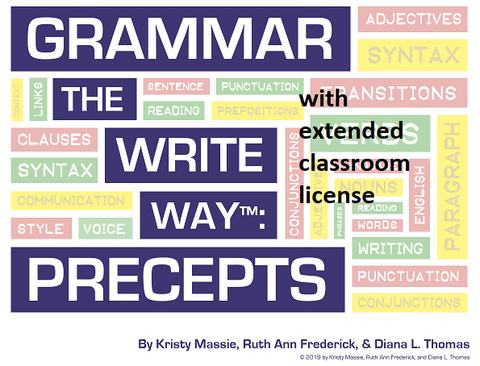 Grammar the Write Way: Precepts - Extended License for Classroom Use