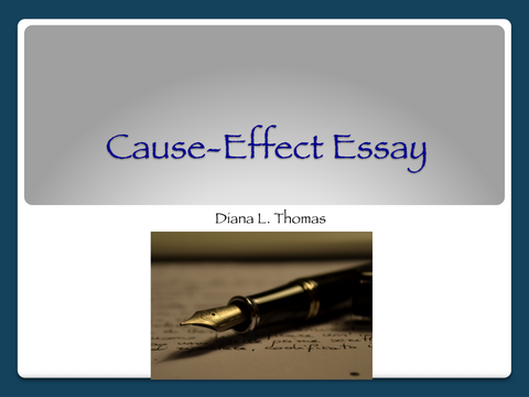 Cause-Effect Essay Lesson