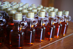 Delicious bottles of maple syrup