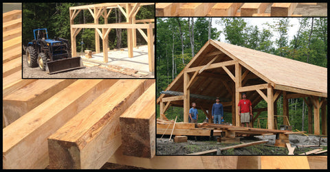 From trees, to posts and beams to sugar shack!