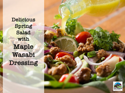 Recipe for homemade maple salad dressing!