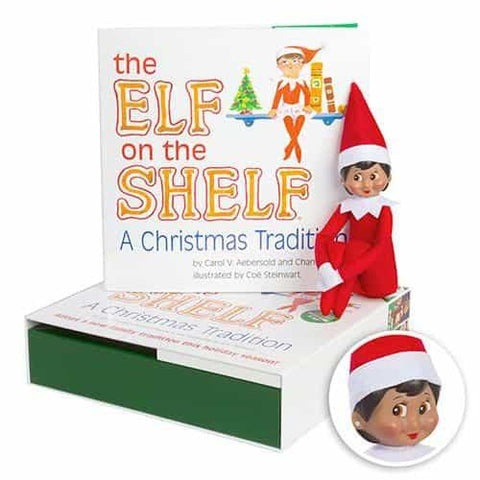 The Elf on the Shelf: A Christmas Tradition (includes girl Scout Elf w/ dark skin)