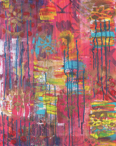 Abstract Color Chaos Giclee Print