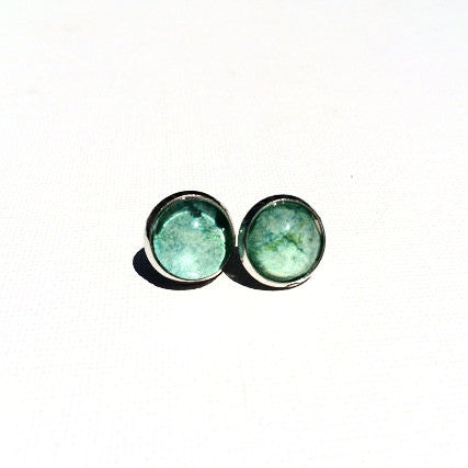 LIME GREEN Watercolor Studs