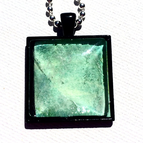 LIME GREEN Watercolor Pendant
