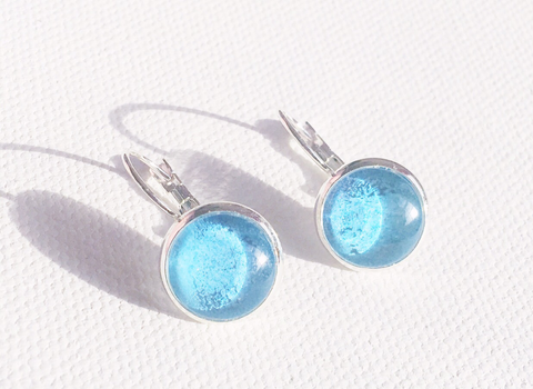 TURQUOISE Lever Back Earrings, Nickel Free, Hypoallergenic, Colorful Earrings