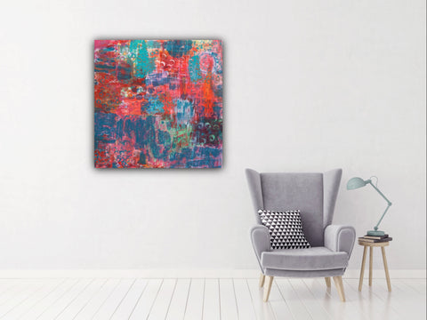 ABSTRACT Color Love Original Painting, Original Art, Colorful Art, Abstract Art