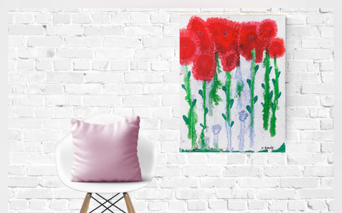 Colorful Floral Art, Giclee Print, Happy Art, Floral Art