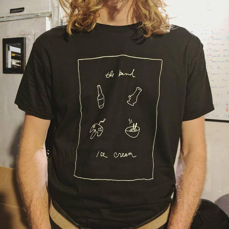 The Band Ice Cream Tee: Beers, Bongs, Video Games, and Ramen