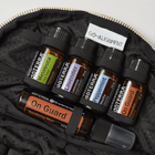 Tourmaline Quartz Gemstone-Infused Clutch Fabric Bags Go-Alignment - eos - Easy Oil Solutions - doterra - essential oils