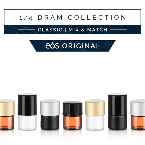 1/4 Dram Classic Collection (Pack of 36) Containers eos - Easy Oil Solutions
