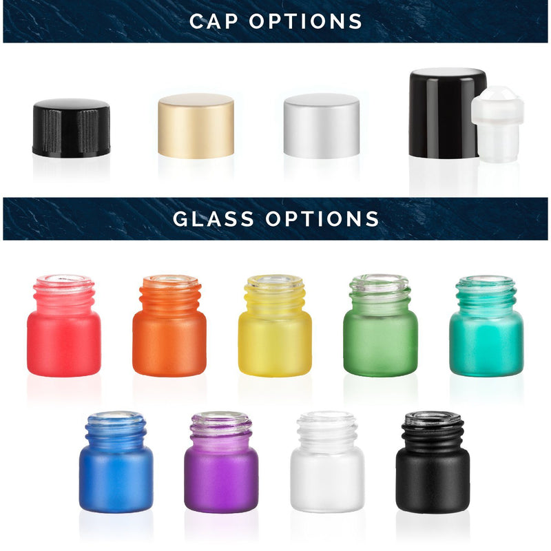 1/4 Dram Rainbow Collection (Custom Variety Packs of 24) Containers eos - Easy Oil Solutions