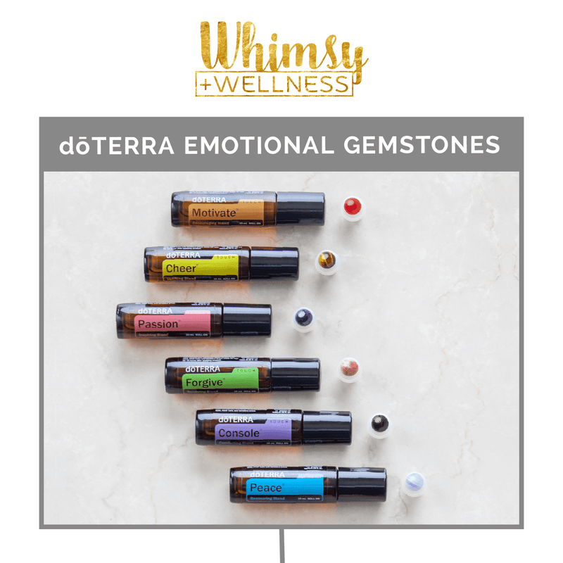 dōTERRA Emotional Aromatherapy Luxury Gemstone Rollerball Set Accessories Whimsy Wellness