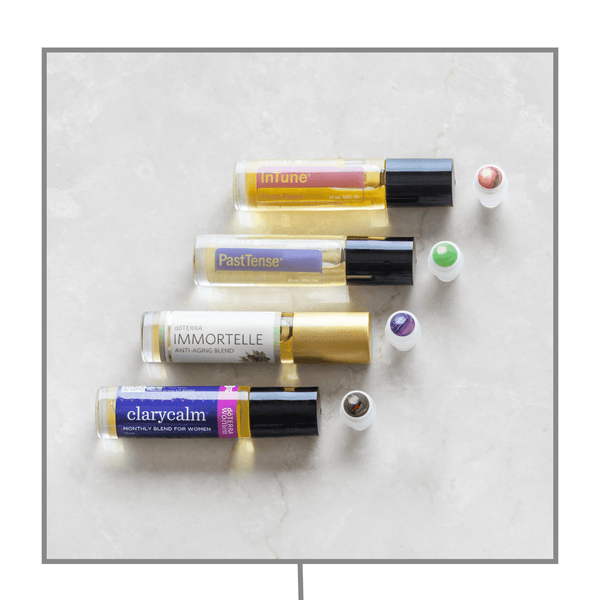 dōTERRA Luxury Gemstone Rollerball Quartet Accessories Whimsy Wellness - eos - Easy Oil Solutions - doterra - essential oils