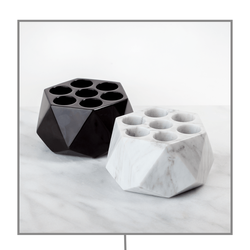 Diamond Onyx Oil Holder (15mL - 7 Holes) Stone Oil Holders Shades Of Stone