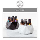 Diamond Onyx Oil Holder (15mL - 7 Holes) Stone Oil Holders Shades Of Stone - eos - Easy Oil Solutions - doterra - essential oils