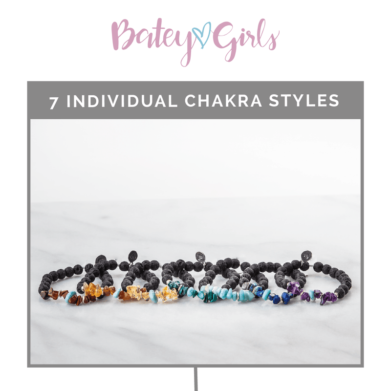 Individual Chakra Diffuser Bracelet Collection Diffuser Jewelry Batey Girls - eos - Easy Oil Solutions - doterra - essential oils