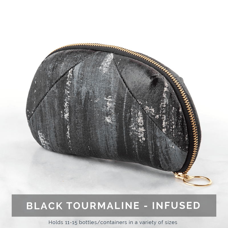 Luxury Gemstone-Infused Clutch Collection Fabric Bags Go-Alignment Black Tourmaline NO