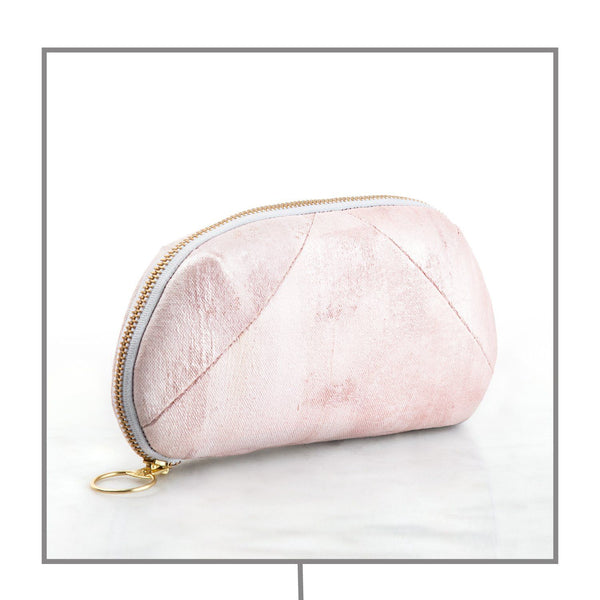 Rose Quartz Gemstone-Infused Clutch