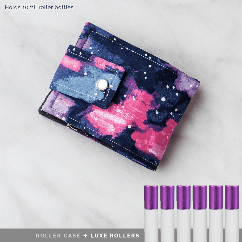 Mini Roller Case | Oil Magic Collection Fabric Bags Honey Hive Five - eos - Easy Oil Solutions - doterra - essential oils
