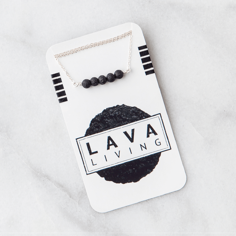 Lava Bar Diffuser Necklace Diffuser Jewelry Lava Living Sterling Silver