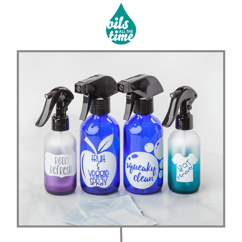 Cleaning Decal Kit (Set of 4) Containers & Accessories Oils All The Time - eos - Easy Oil Solutions - doterra - essential oils