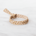 Studded Leather Diffuser Bracelet Collection Diffuser Jewelry Put On Love Designs Caramel Cream Gold-Studded Bracelet