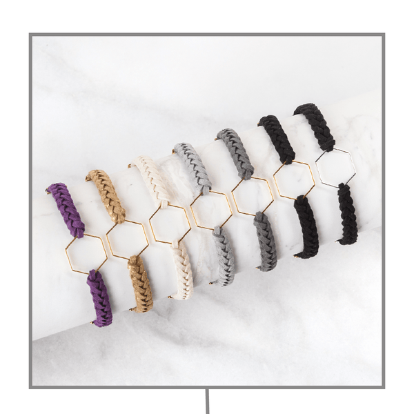 Hexagon Leather Diffuser Bracelet Collection Diffuser Jewelry Put On Love Designs
