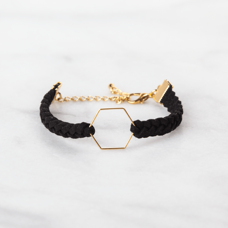 Hexagon Leather Diffuser Bracelet Collection Diffuser Jewelry Put On Love Designs - eos - Easy Oil Solutions - doterra - essential oils