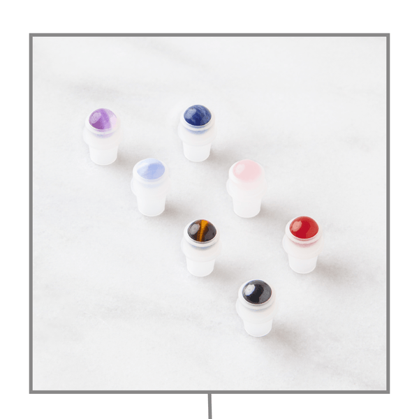 Chakra Luxury Gemstone Rollerball Set Accessories Whimsy Wellness