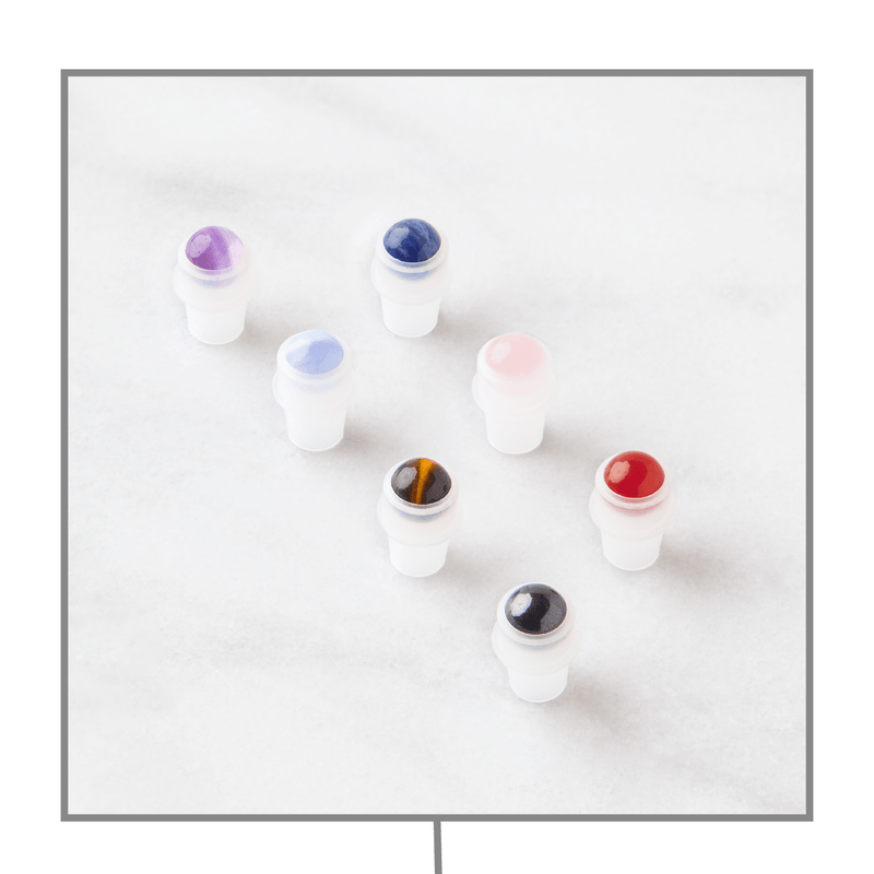 Chakra Luxury Gemstone Rollerball Set Accessories Whimsy Wellness - eos - Easy Oil Solutions - doterra - essential oils