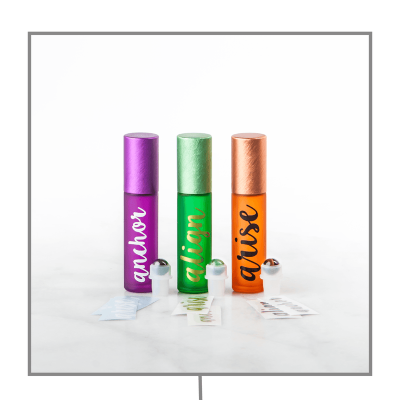 dōTERRA Yoga Collection | Luxury Gemstone Rollerball & Decal Sets Containers & Accessories Whimsy Wellness - eos - Easy Oil Solutions - doterra - essential oils