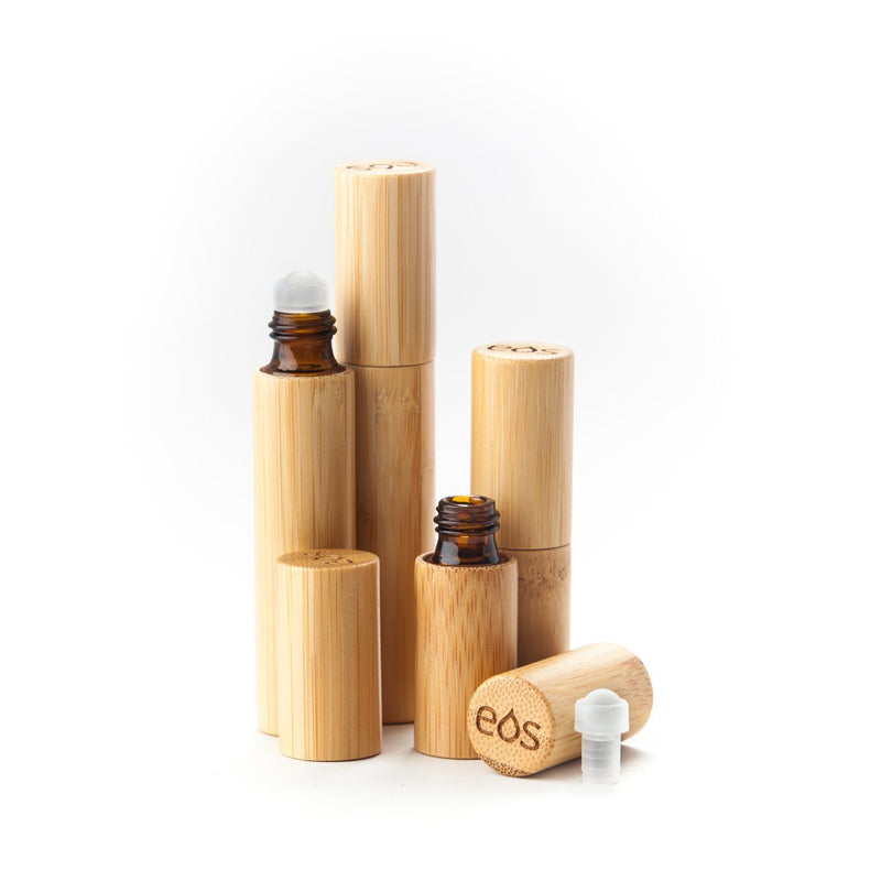 EOS Original Bamboo Roller Bottle (5 mL or 10 mL, Packs of 3) Containers eos - Easy Oil Solutions