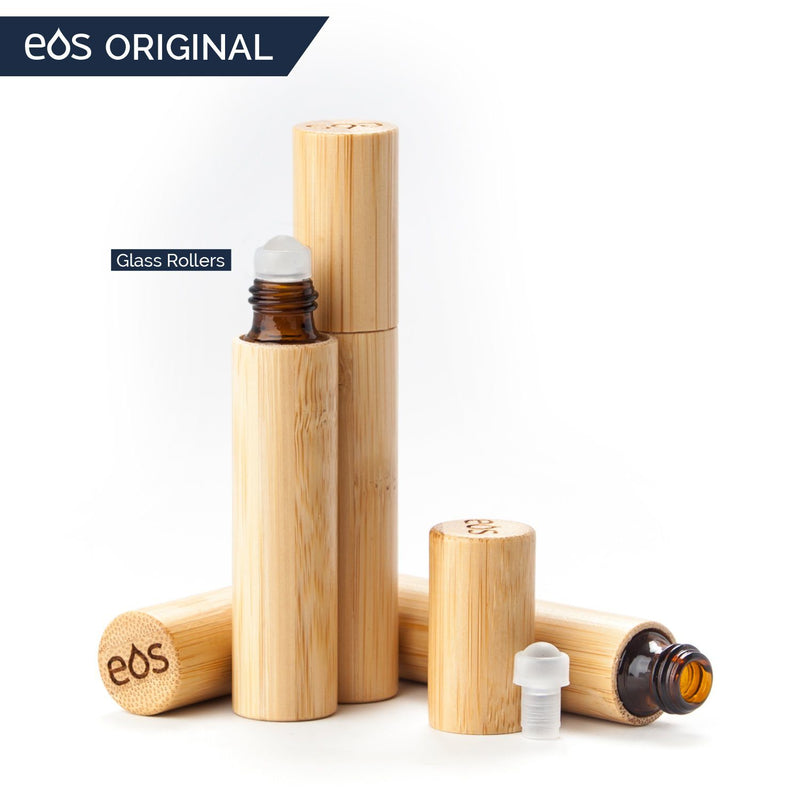 EOS Original Bamboo Roller Bottle (5 mL or 10 mL, Packs of 3) Containers eos - Easy Oil Solutions 10 mL Pack of Three