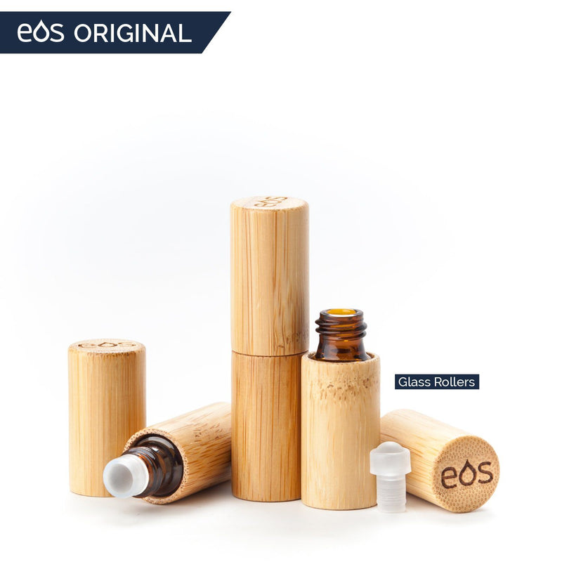EOS Original Bamboo Roller Bottle (5 mL or 10 mL, Packs of 3) Containers eos - Easy Oil Solutions 5 mL Pack of Three