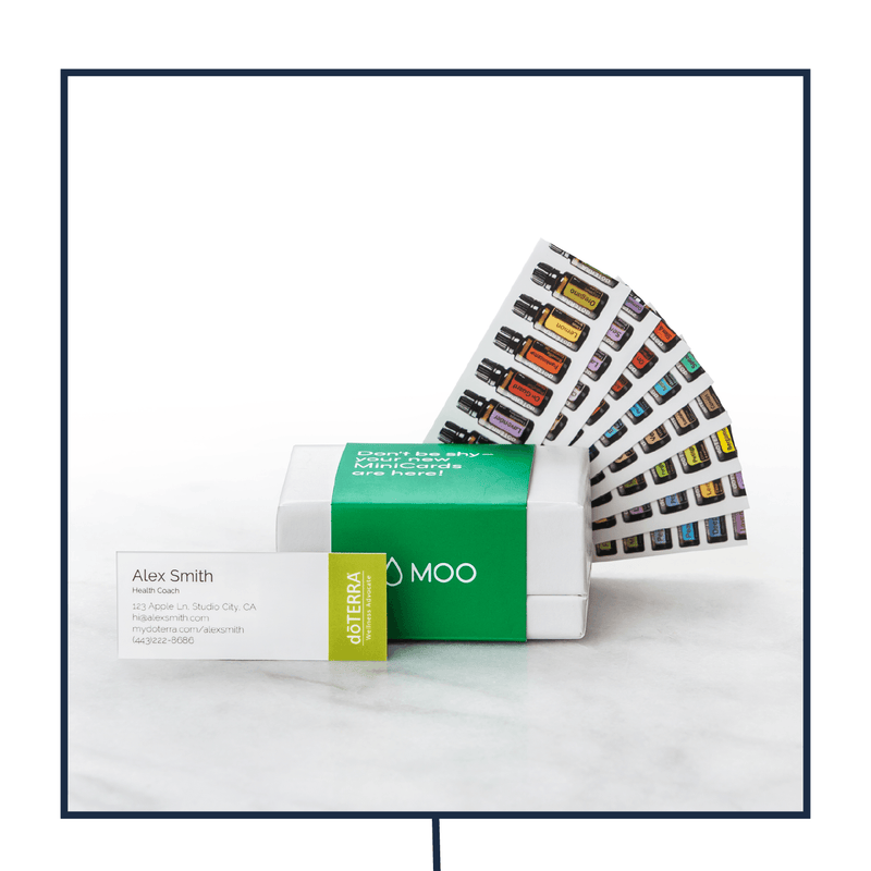 Mini business card 100 cards per set eos easy oil solutions mini business card 100 cards per set business presentterra eos easy oil colourmoves