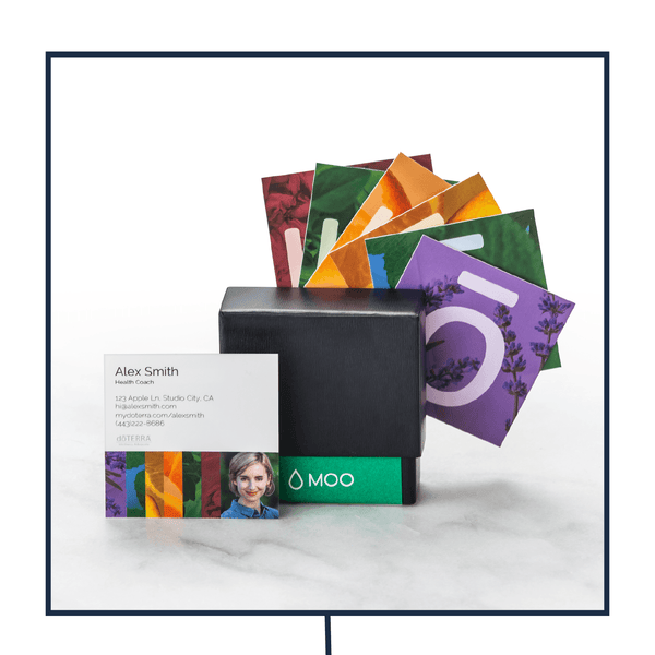 Square Business Card (50 Cards per Set) Business presentTERRA - eos - Easy Oil Solutions - doterra - essential oils