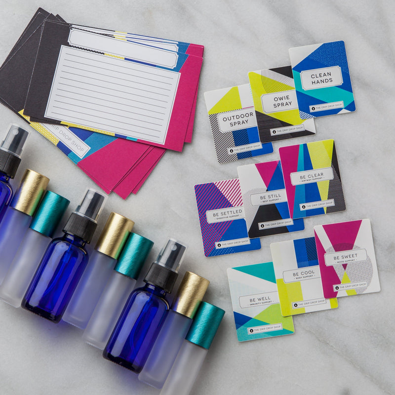 Kids & Babies Kit | 3 Styles (Up to 9 Labels and/or 10 Post Cards) Containers & Accessories Drip Drop Shop Colorblock Kids YES YES - 6 Matching Rollers (Colorblock Styles also include 3 1 oz Blue Spray Bottles)