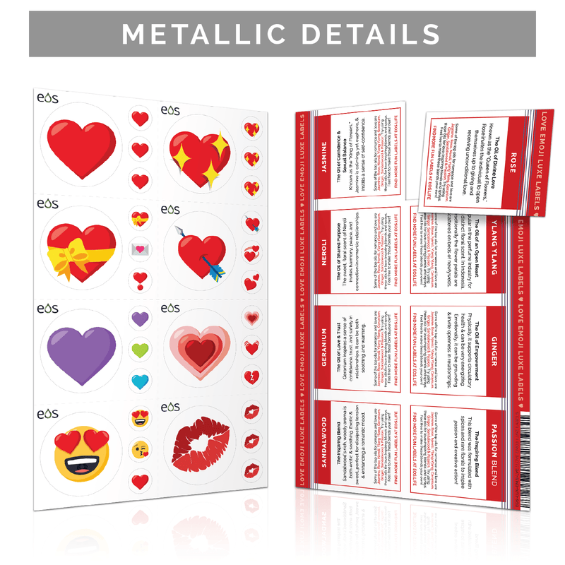 Love Emoji Luxe Labels (1 Sheet) Containers & Accessories Emoji One