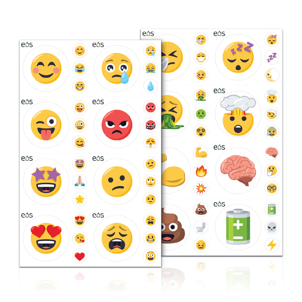 Physical or Emotional Emoji Labels (2 Sheet Options) Containers & Accessories Emoji One - eos - Easy Oil Solutions - doterra - essential oils