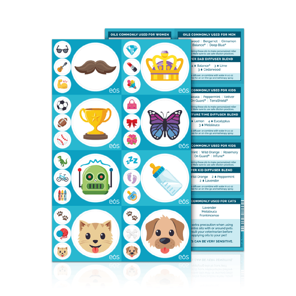 Family Emoji Labels with Recipes Containers & Accessories eos - Easy Oil Solutions - eos - Easy Oil Solutions - doterra - essential oils