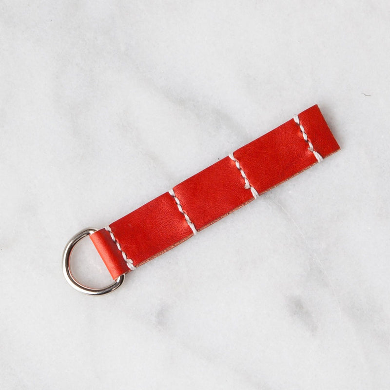 Handmade Leather Sample Keychains Accessories Hive Leather Cinnamon Red