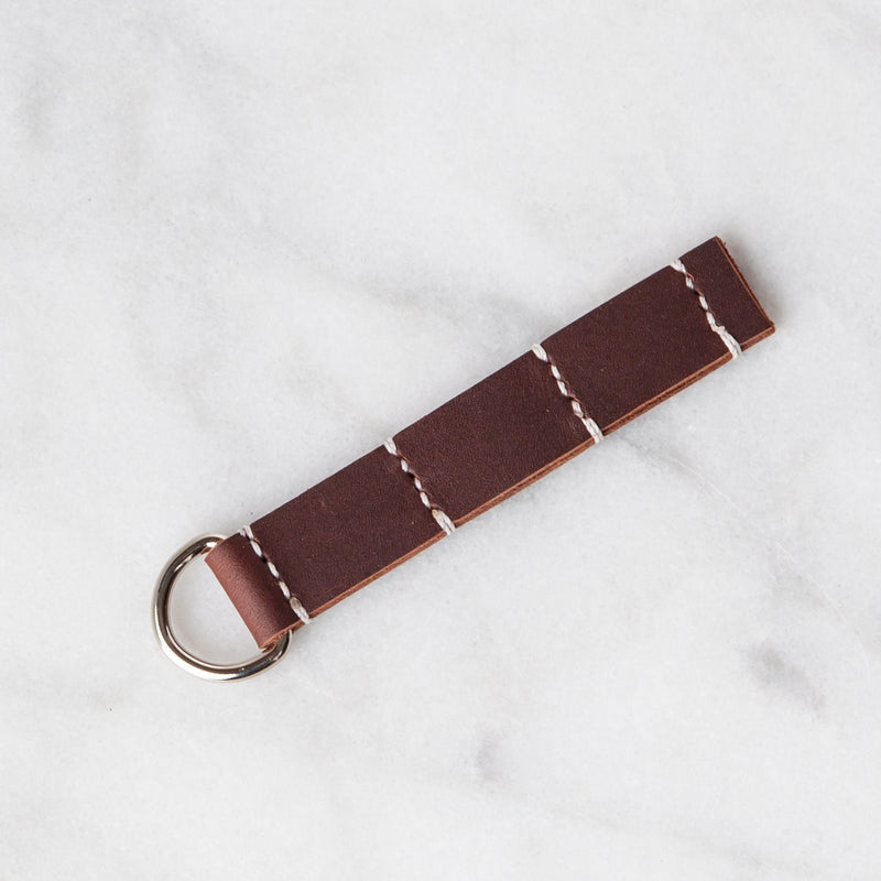 Handmade Leather Sample Keychains Accessories Hive Leather Brown